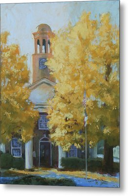 The Old Courthouse, 9am Metal Print by Carol Strickland