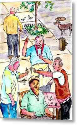 The Old Italian Men Up The Block Metal Print