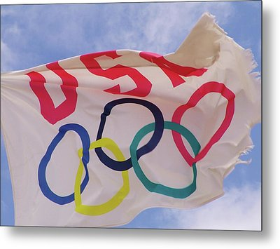 The Olympic Flag Metal Print