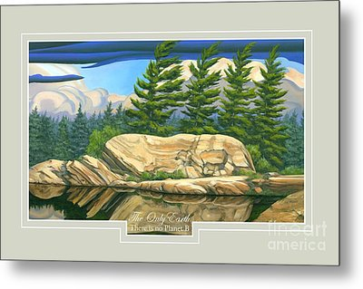 Metal Print featuring the painting The Only World by Michael Swanson