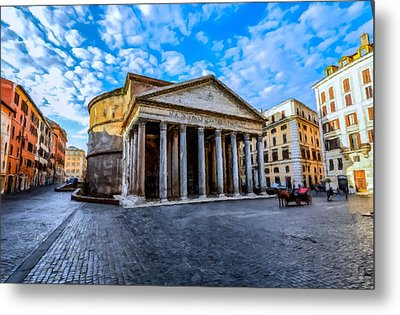 The Pantheon Rome Metal Print by David Dehner
