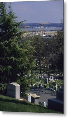 The Pentagon Looms Behind  Arlington Metal Print by Raymond Gehman