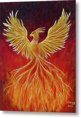 The Phoenix Metal Print by Teresa Wing