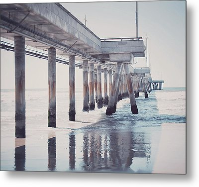 The Pier Metal Print by Nastasia Cook