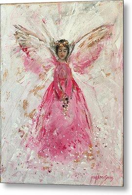 The Pink Angel  Metal Print by Jun Jamosmos