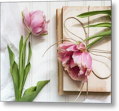 The Pink Tulips Metal Print by Kim Hojnacki