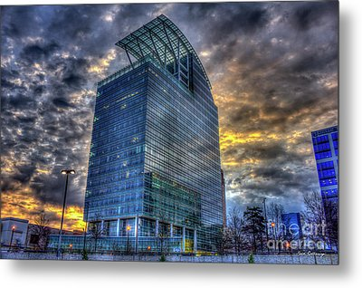 The Pinnacle Sunrise Buckhead Atlanta Art Metal Print by Reid Callaway