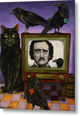 The Poe Show Metal Print by Leah Saulnier The Painting Maniac