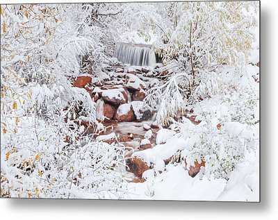 The Poetic Beauty Of Freshly Fallen Snow  Metal Print by Bijan Pirnia