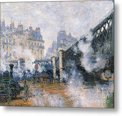The Pont De Leurope Gare Saint Lazare Metal Print by Claude Monet