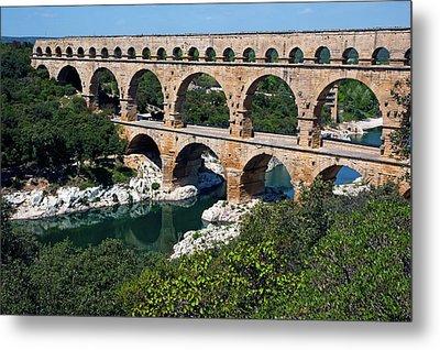 The Pont Du Gard Metal Print by Sami Sarkis