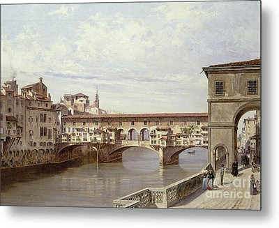 The Pontevecchio - Florence  Metal Print by Antonietta Brandeis