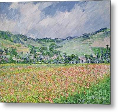 The Poppy Field Near Giverny Metal Print by Claude Monet
