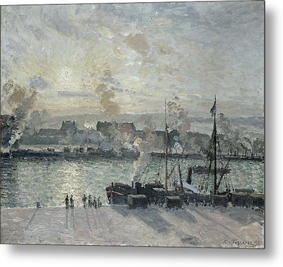 The Port Of Rouen Metal Print by Camille Pissarro