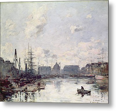 The Port Of Trade Metal Print by Eugene Louis Boudin