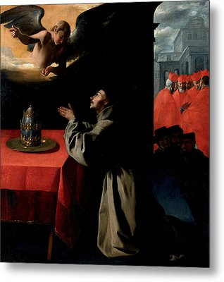The Prayer Of St. Bonaventura About The Selection Of The New Pope Metal Print