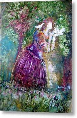 The Princess And The Birds Metal Print by Deborah Nell