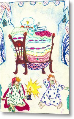 The Princess On A Pea Metal Print by Rae Chichilnitsky