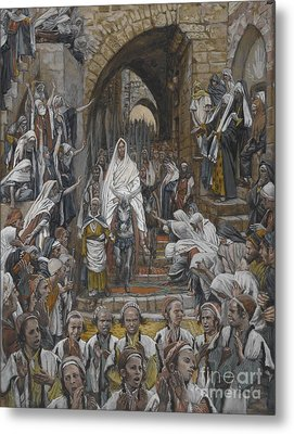 The Procession In The Streets Of Jerusalem Metal Print