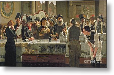 The Public Bar Metal Print by John Henry Henshall
