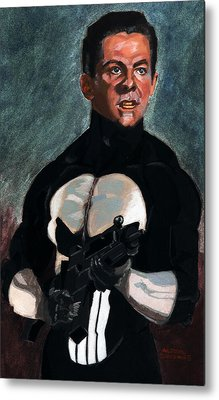 The Punisher In Pulp Metal Print by Aljohn Gonzales
