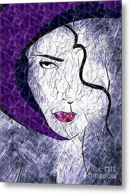 The Purple Hat Metal Print