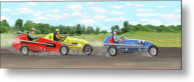 The Racers Metal Print by Gary Giacomelli