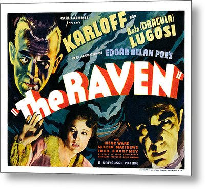 The Raven, From Left Boris Karloff Metal Print