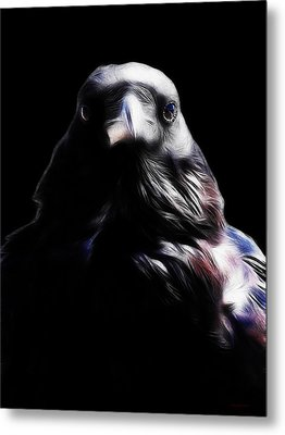 The Raven In My Dreams Metal Print by Wingsdomain Art and Photography