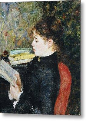 The Reader Metal Print by Pierre Auguste Renoir