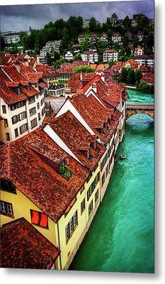 The Red Rooftops Of Bern Switzerland  Metal Print by Carol Japp