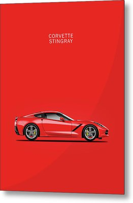 The Red Vette Metal Print by Mark Rogan