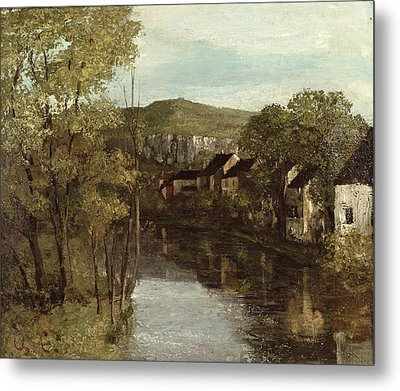 The Reflection Of Ornans Metal Print by Gustave Courbet