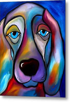 The Regal Beagle - Dog Pop Art By Fidostudio Metal Print by Tom Fedro - Fidostudio