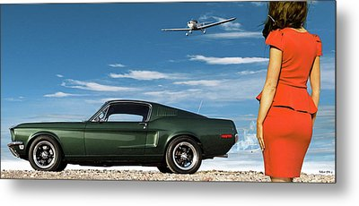 The Rendezvous - 1968 Mustang Fastback Metal Print