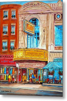 Metal Print featuring the painting The Rialto Theatre Montreal by Carole Spandau