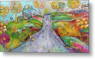 Metal Print featuring the painting The Road Home by Claire Bull