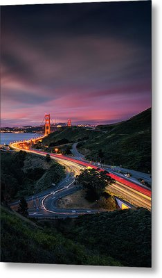 The Road In... San Francisco Metal Print by Vincent James