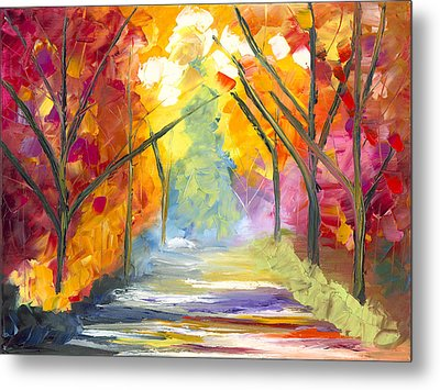 The Road Less Traveled Metal Print by Jessilyn Park