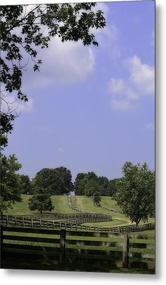 The Road To Lynchburg From Appomattox Virginia Metal Print by Teresa Mucha