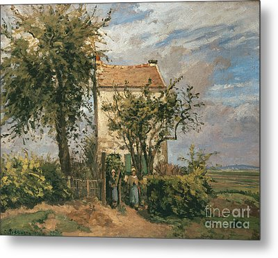 The Road To Rueil Metal Print by Camille Pissarro