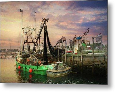 The Rockland Docks Metal Print by Lori Deiter