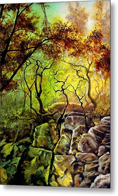 The Rocks In Starachowice Metal Print by Henryk Gorecki