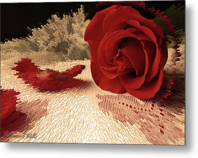 Metal Print featuring the photograph The Rose by Bonnie Willis