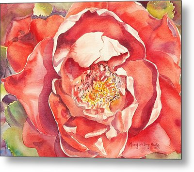 Metal Print featuring the painting The Rose by Mary Haley-Rocks