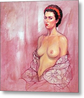 The Rose Metal Print by Roz McQuillan