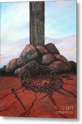 The Sacrifice Of His Love Metal Print by Michael Nowak