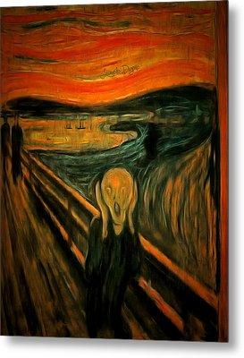 The Scream By Edvard Munch Revisited - Da Metal Print by Leonardo Digenio