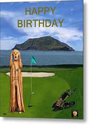 The Scream World Tour Golf  Happy Birthday Metal Print by Eric Kempson