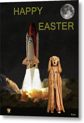 The Scream World Tour Space Shuttle Happy Easter Metal Print by Eric Kempson